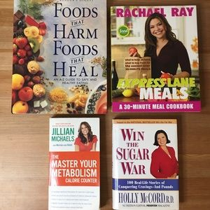 Bundle Of 4 Books about Food and Diet